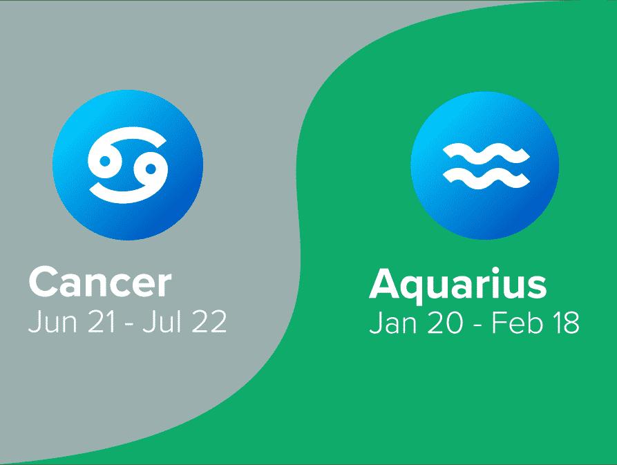 Cancer and Aquarius Friendship Compatibility